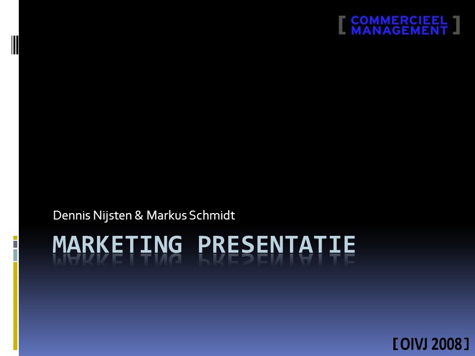 Marketing presentatie