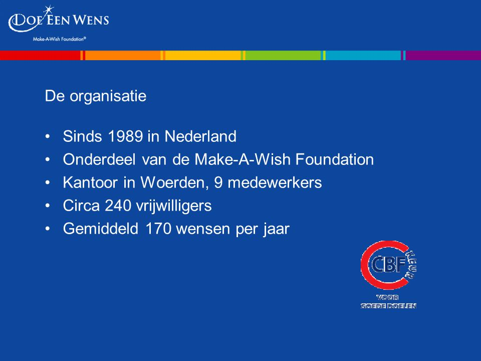 Onderdeel van de Make-A-Wish Foundation