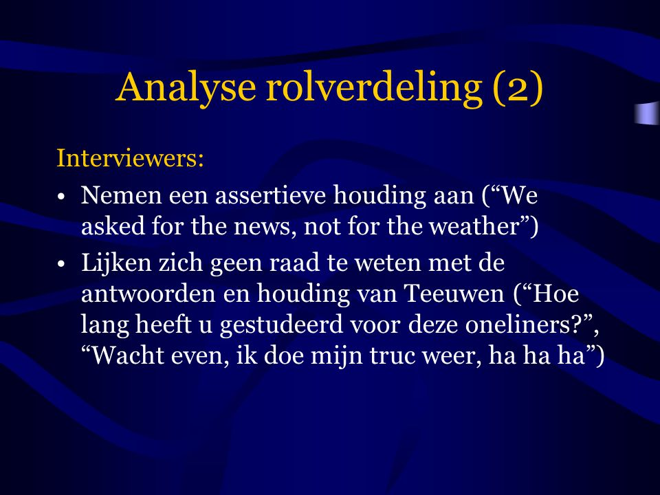 Analyse rolverdeling (2)