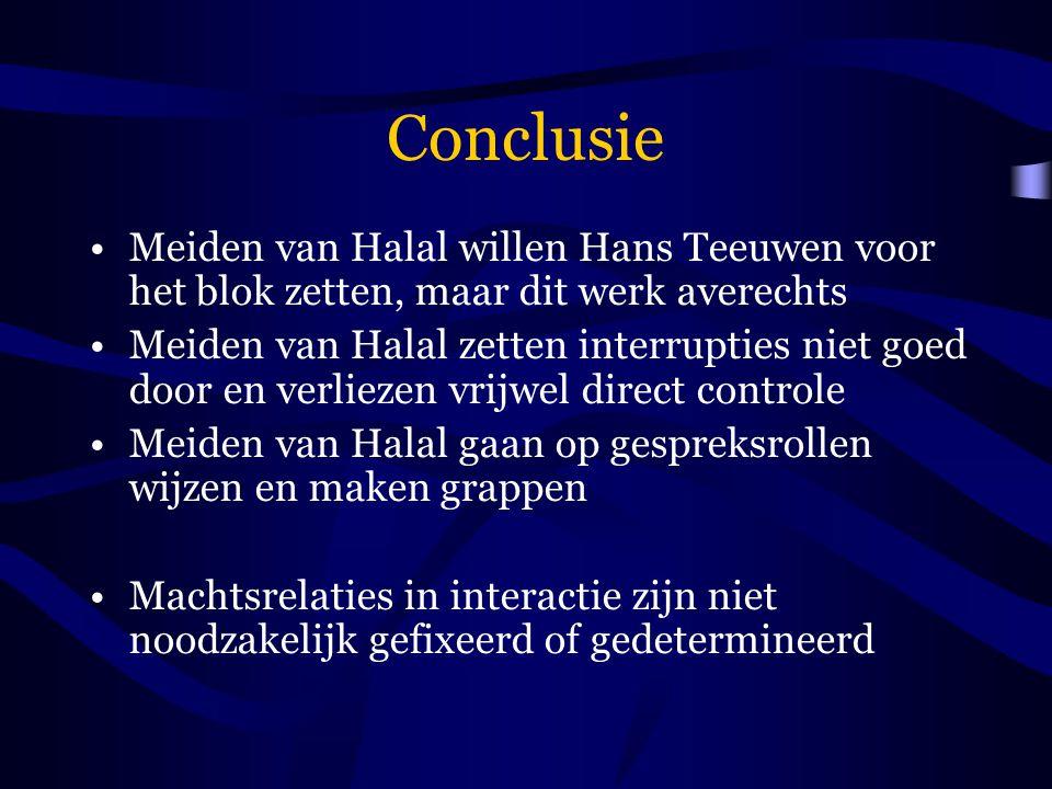 Conclusie Meiden van Halal willen Hans Teeuwen voor het blok zetten, maar dit werk averechts.