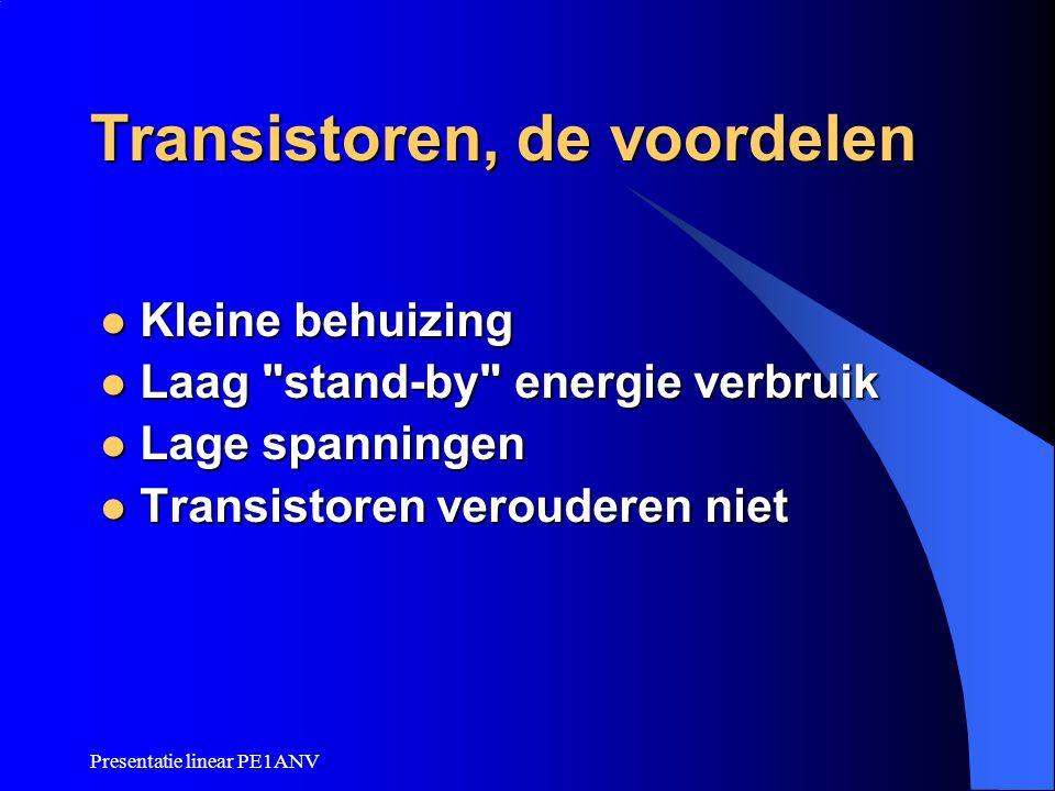 Transistoren, de voordelen