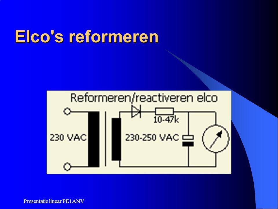 Elco s reformeren Presentatie linear PE1ANV