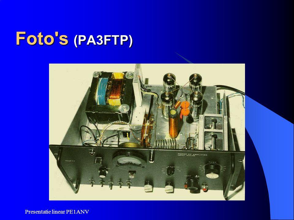 Foto s (PA3FTP) Presentatie linear PE1ANV