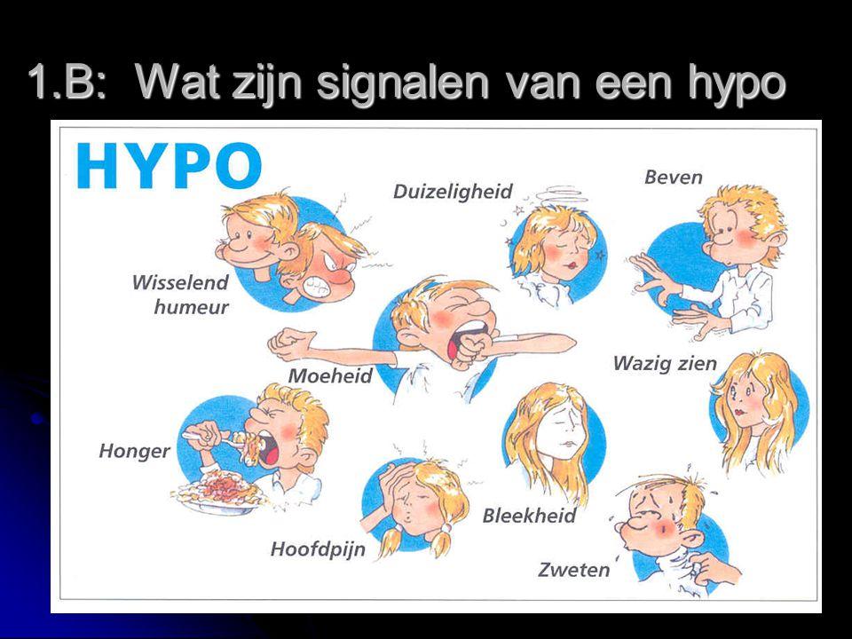1.B: Wat zijn signalen van een hypo
