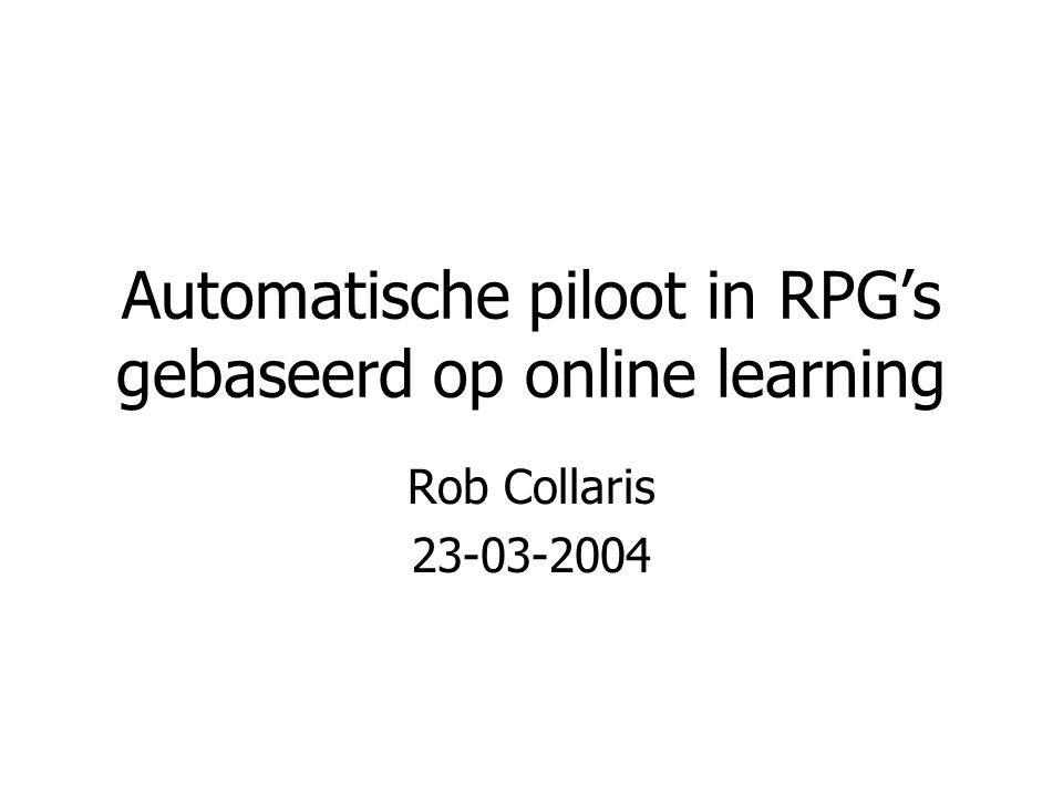 Automatische piloot in RPG's gebaseerd op online learning