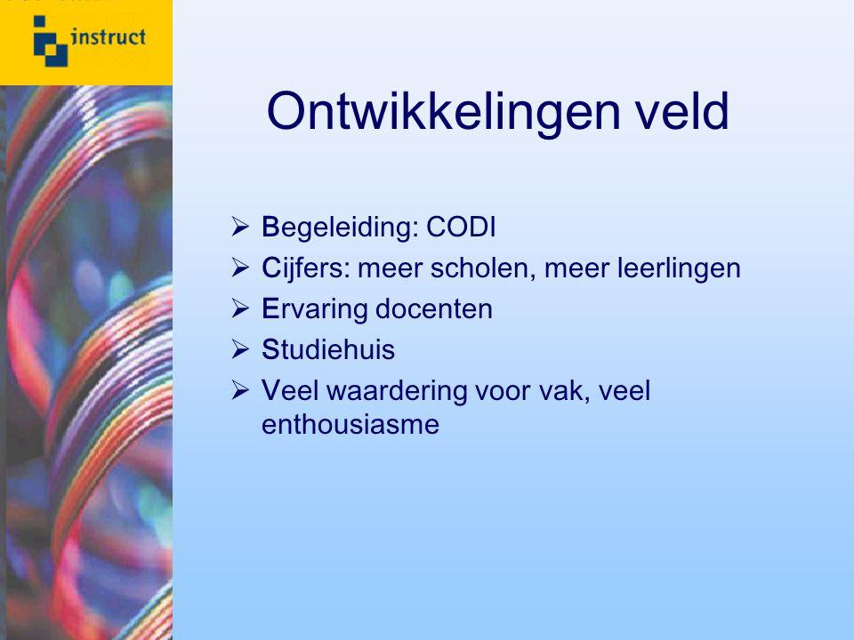 Ontwikkelingen veld Begeleiding: CODI
