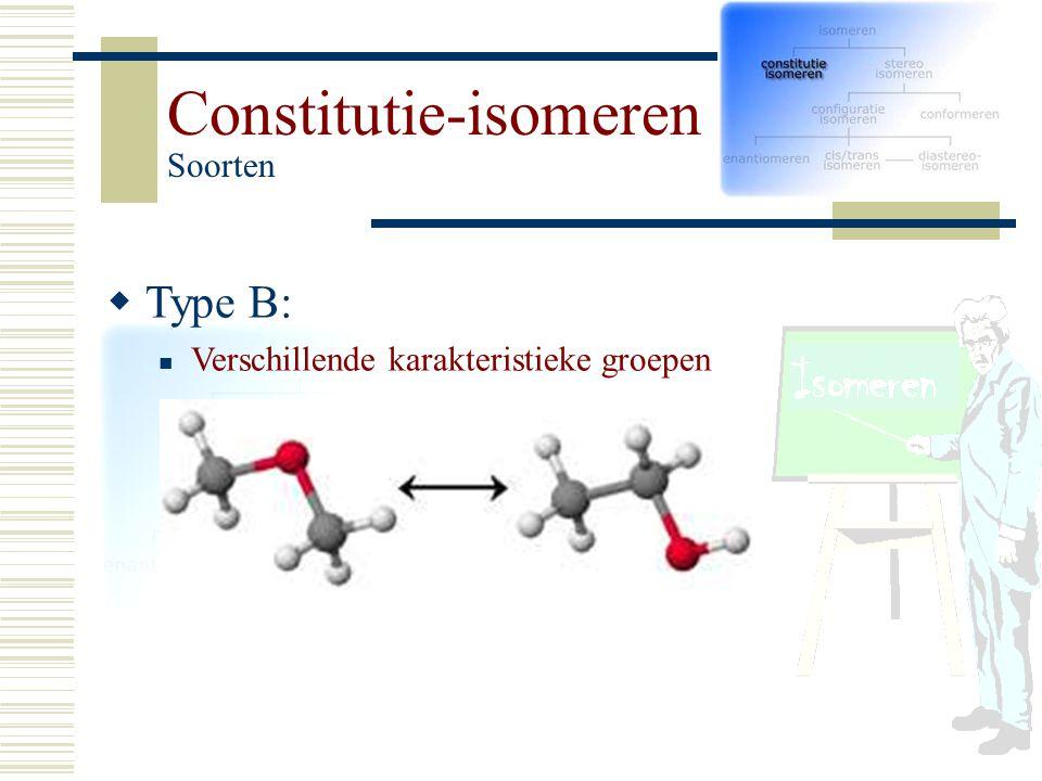 Constitutie-isomeren Soorten