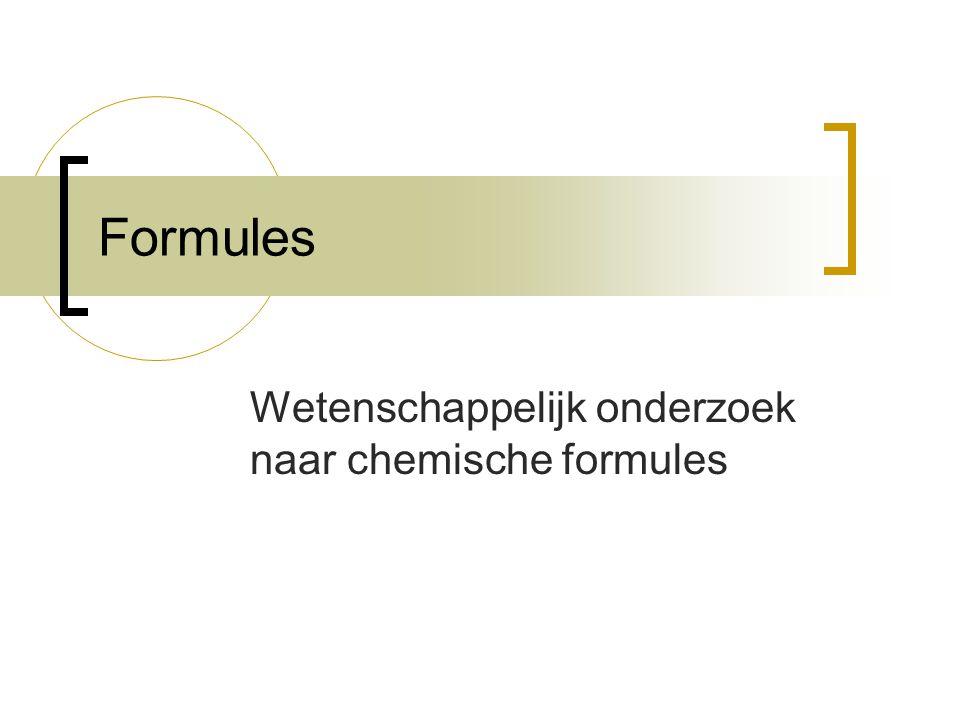 Wetenschappelijk onderzoek naar chemische formules