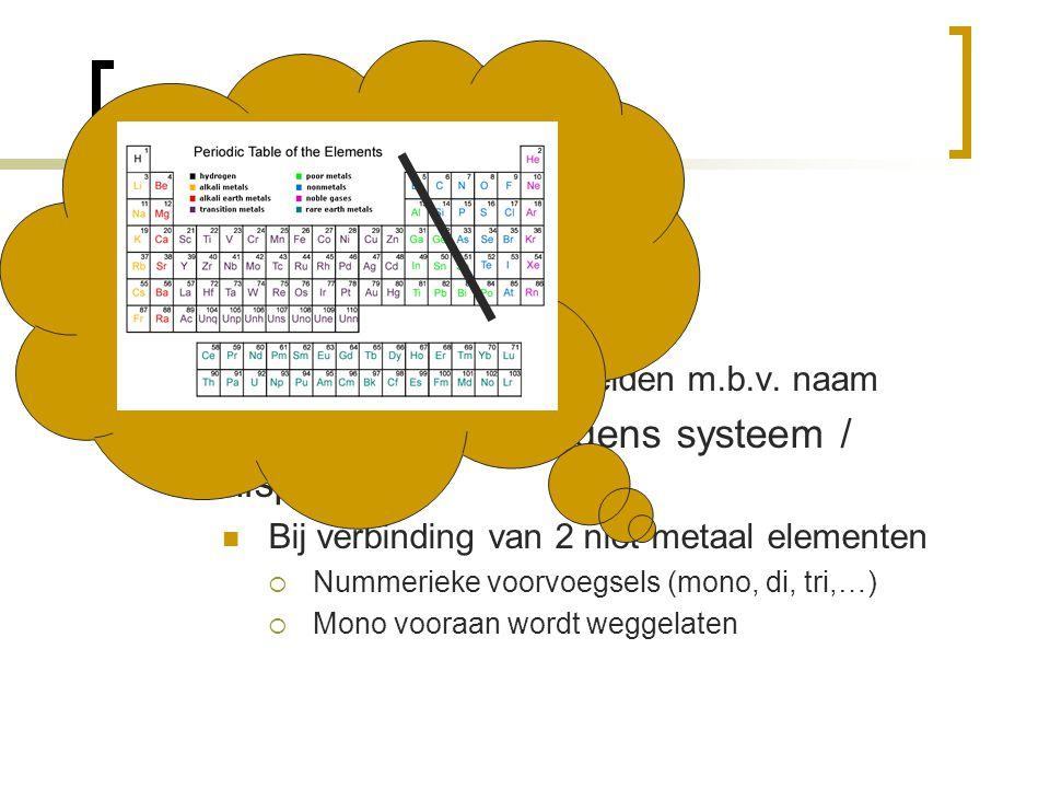 Formules Naamgeving Triviaal (bijv: chloroform)