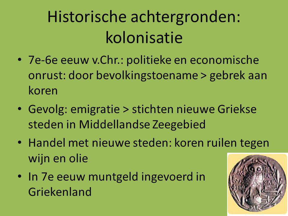 Historische achtergronden: kolonisatie