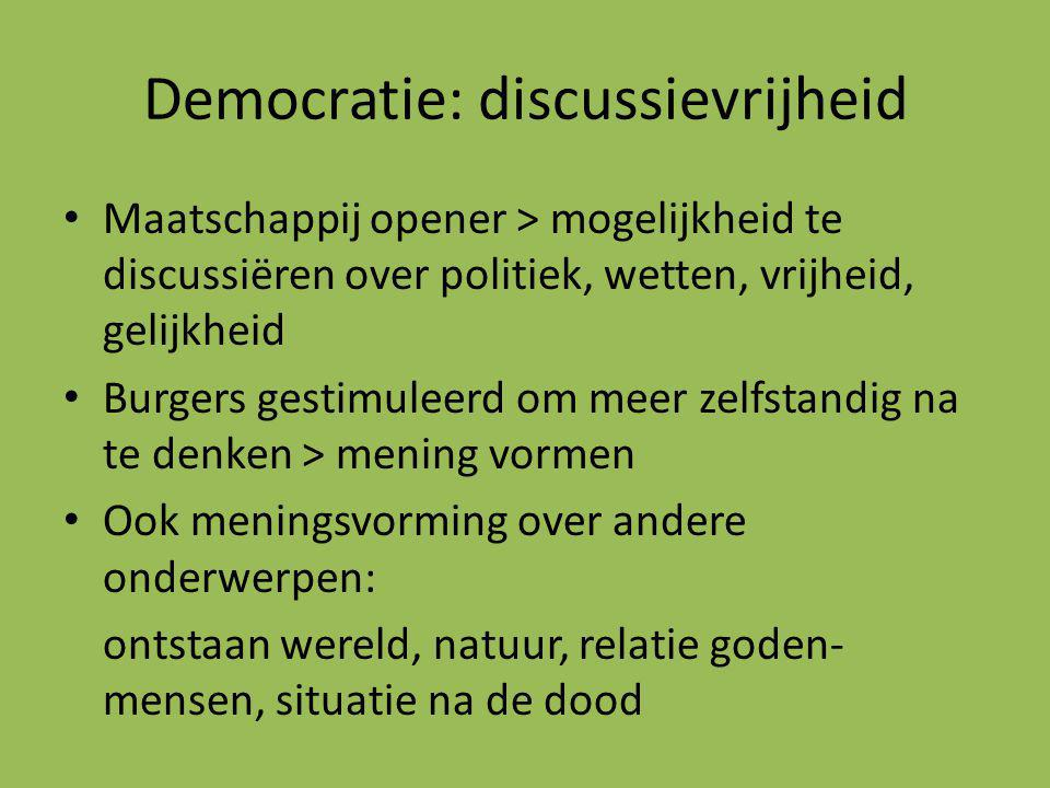 Democratie: discussievrijheid