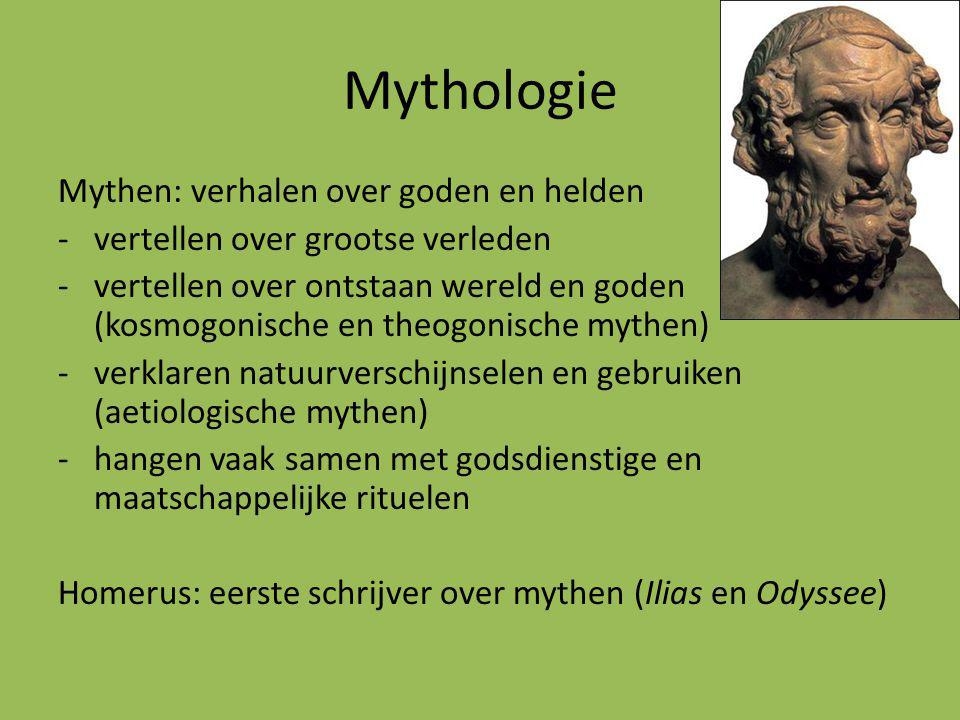 Mythologie Mythen: verhalen over goden en helden