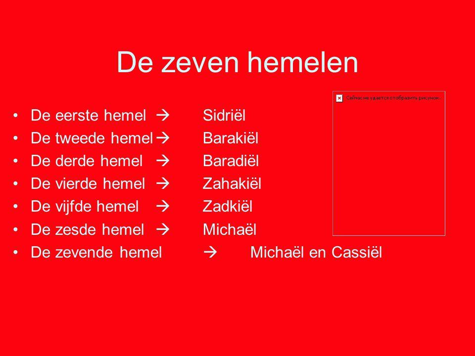De zeven hemelen De eerste hemel  Sidriël De tweede hemel  Barakiël