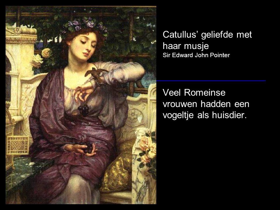 Catullus' geliefde met haar musje Sir Edward John Pointer