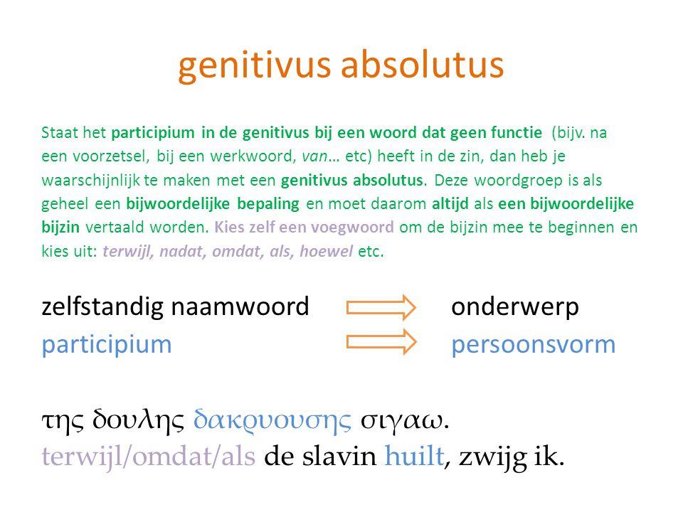 genitivus absolutus zelfstandig naamwoord onderwerp
