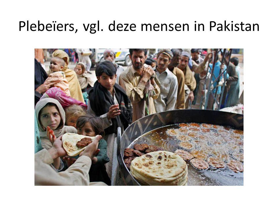 Plebeïers, vgl. deze mensen in Pakistan