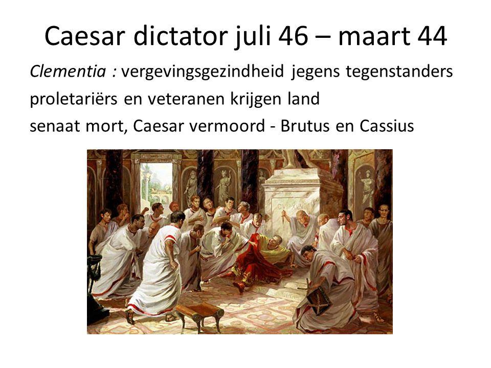 Caesar dictator juli 46 – maart 44