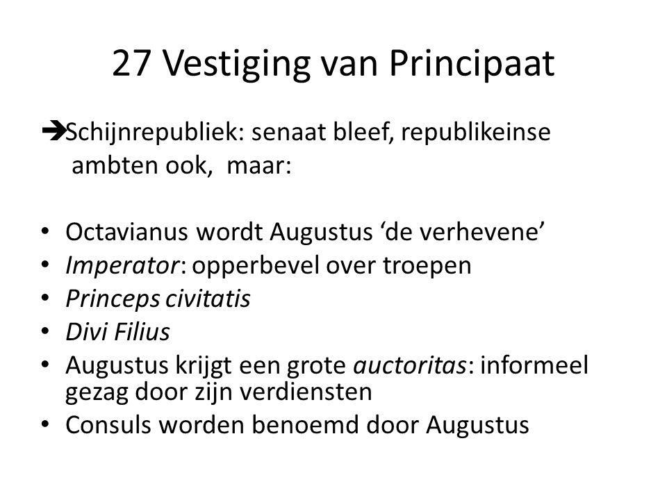 27 Vestiging van Principaat