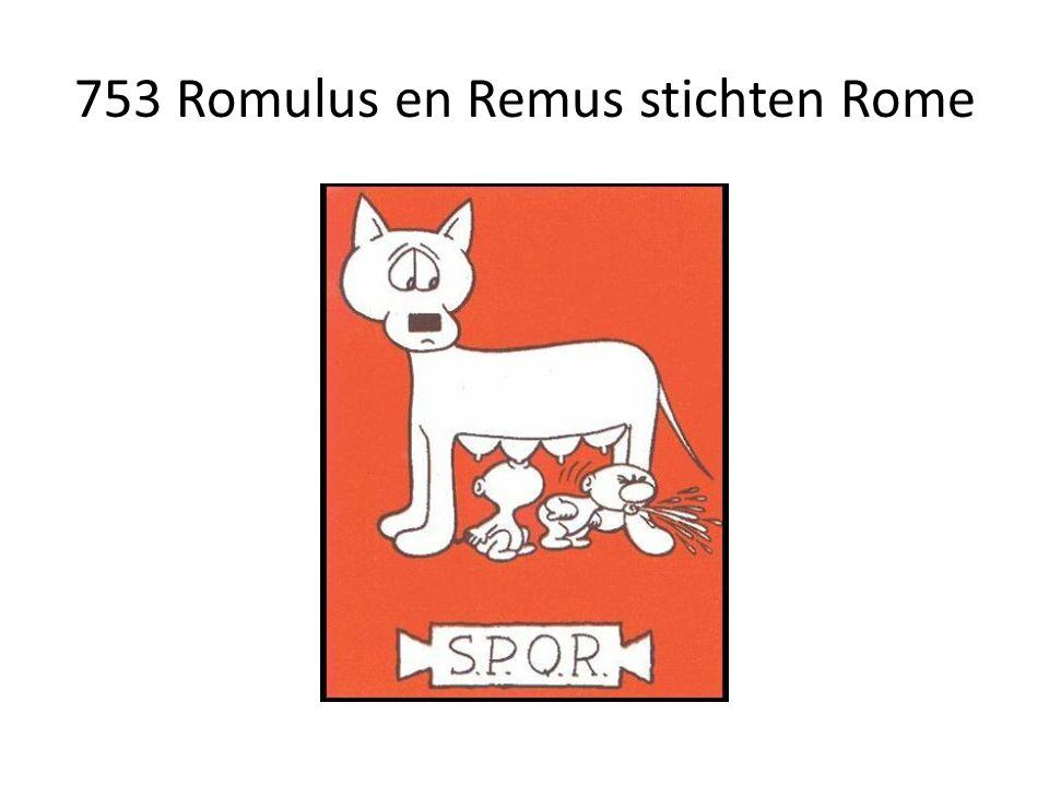 753 Romulus en Remus stichten Rome