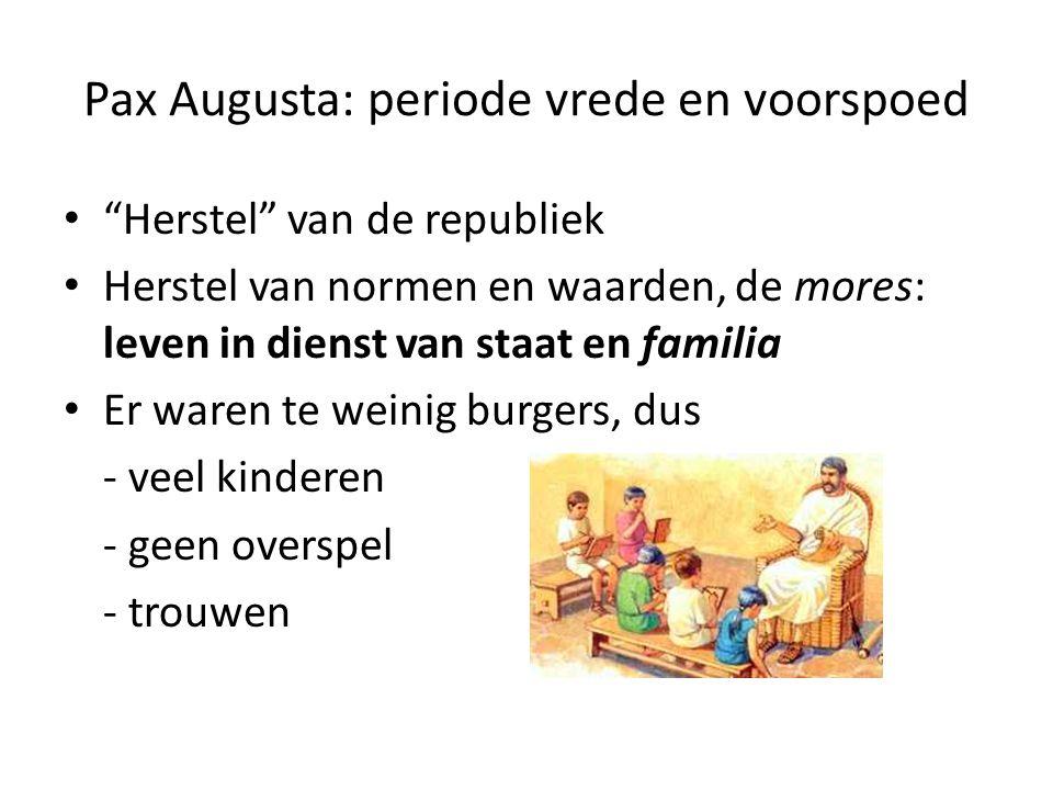 Pax Augusta: periode vrede en voorspoed