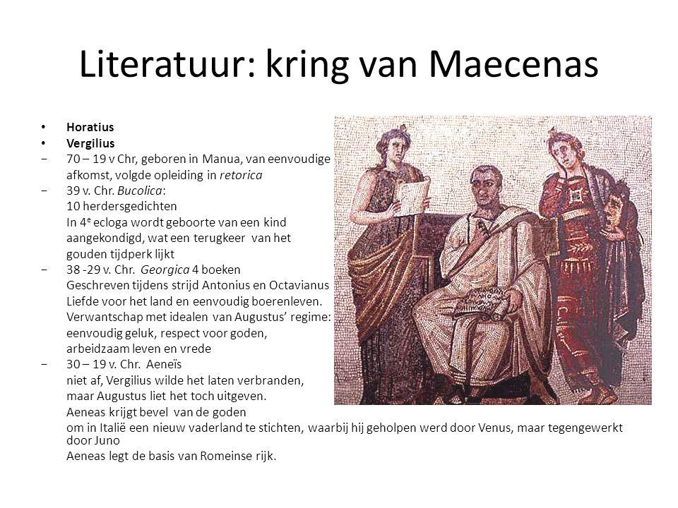 Literatuur: kring van Maecenas