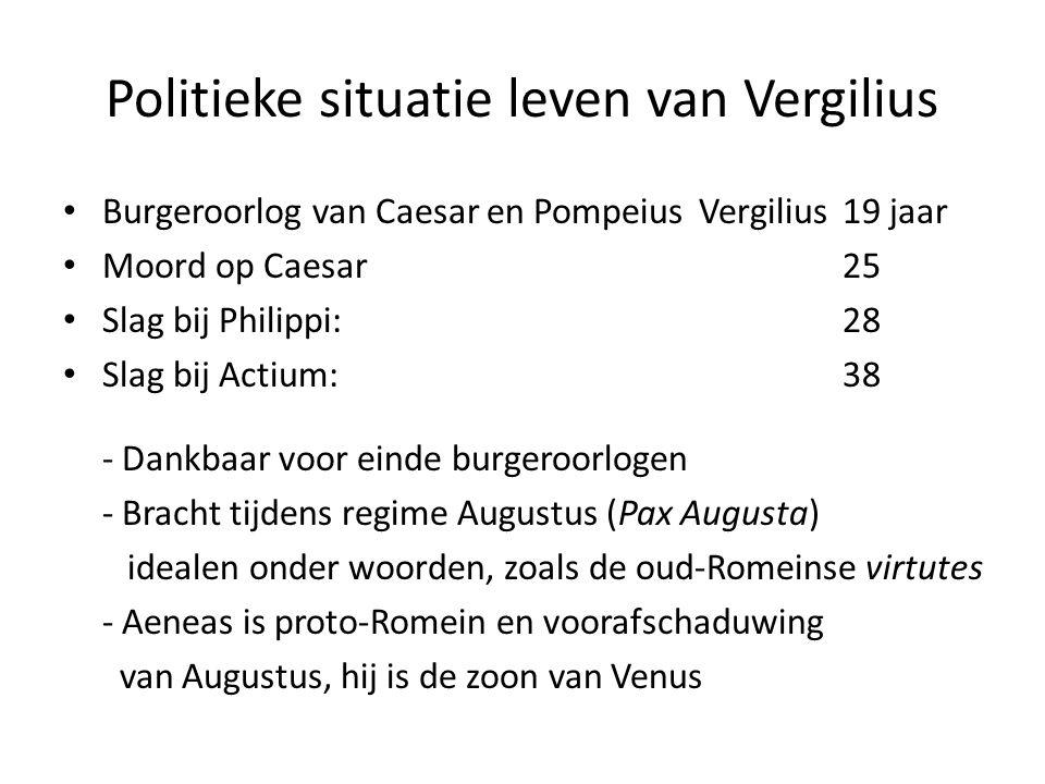 Politieke situatie leven van Vergilius
