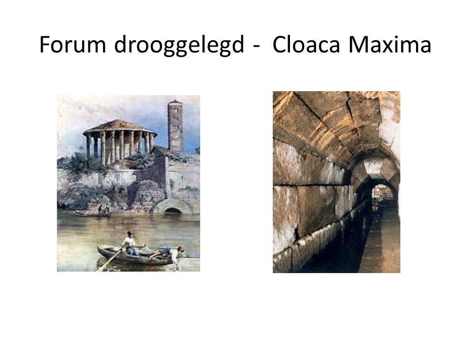 Forum drooggelegd - Cloaca Maxima