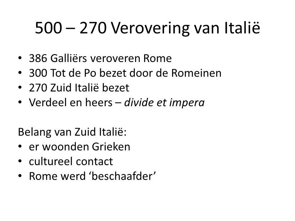 500 – 270 Verovering van Italië