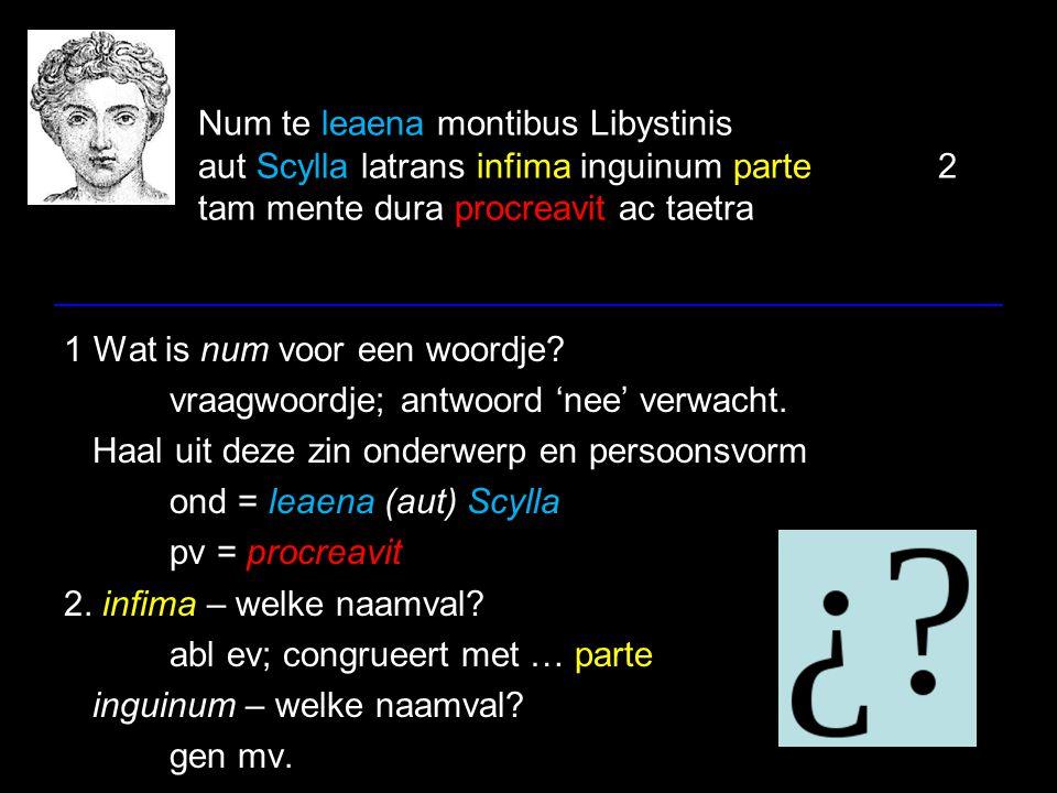 Num te leaena montibus Libystinis aut Scylla latrans infima inguinum parte 2 tam mente dura procreavit ac taetra