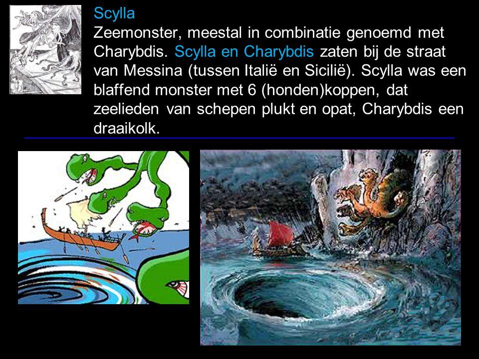 Scylla Zeemonster, meestal in combinatie genoemd met Charybdis