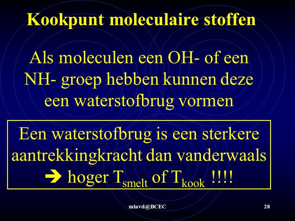 Kookpunt moleculaire stoffen