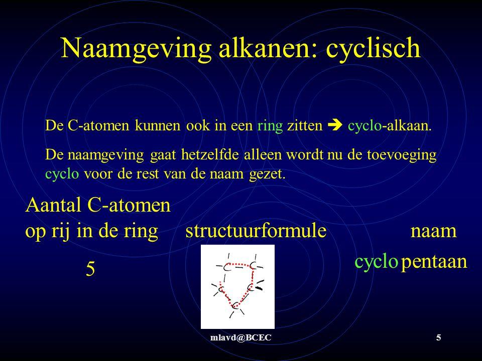 Naamgeving alkanen: cyclisch