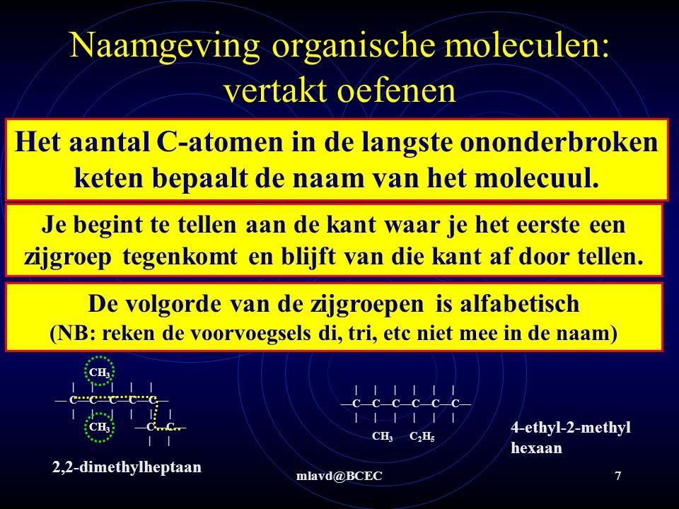 Naamgeving organische moleculen: vertakt oefenen