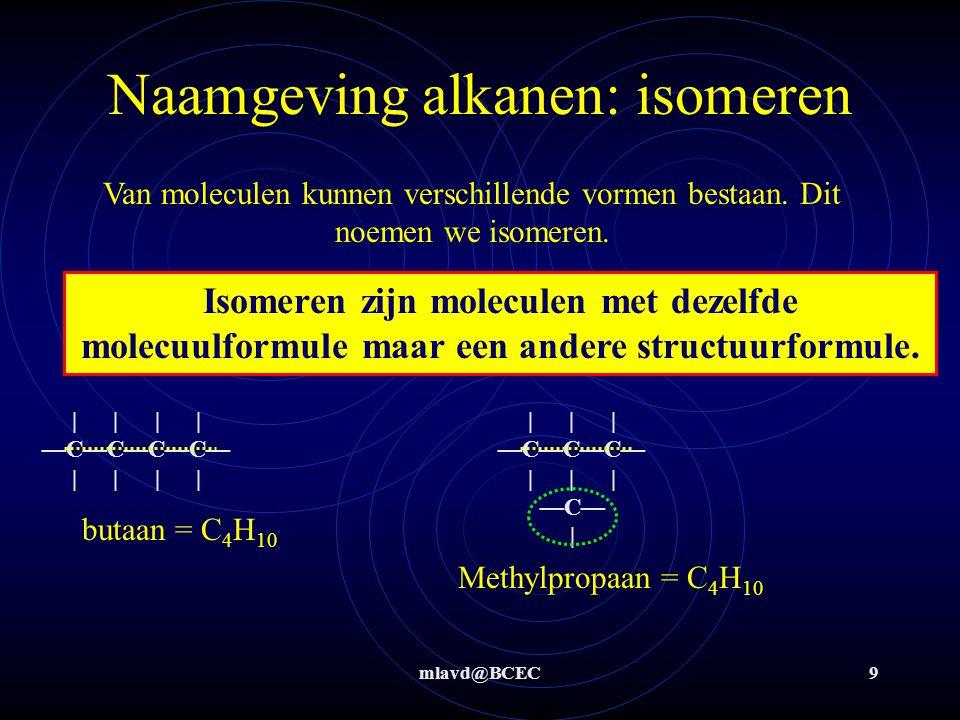 Naamgeving alkanen: isomeren