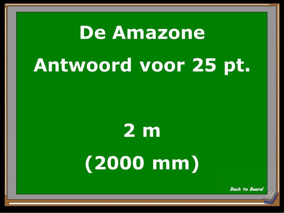 De Amazone Antwoord voor 25 pt. 2 m (2000 mm)