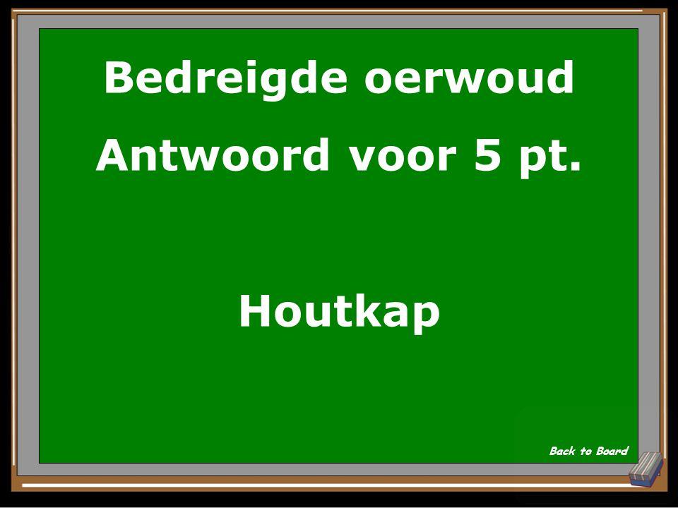 Bedreigde oerwoud Antwoord voor 5 pt. Houtkap