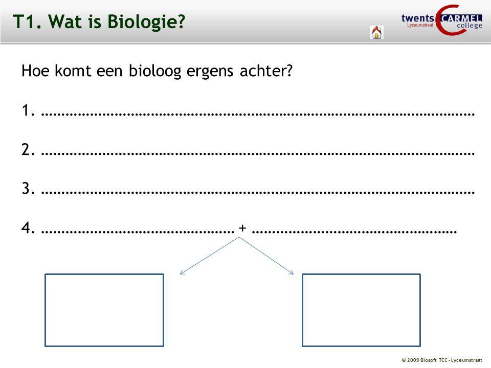 T1. Wat is Biologie Hoe komt een bioloog ergens achter