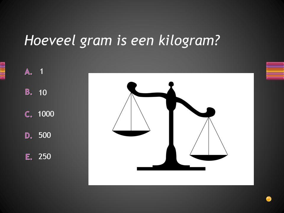 Hoeveel gram is een kilogram