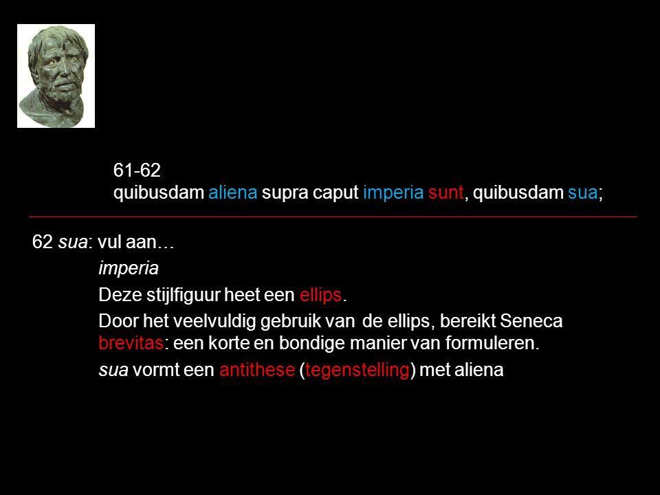 61-62 quibusdam aliena supra caput imperia sunt, quibusdam sua;