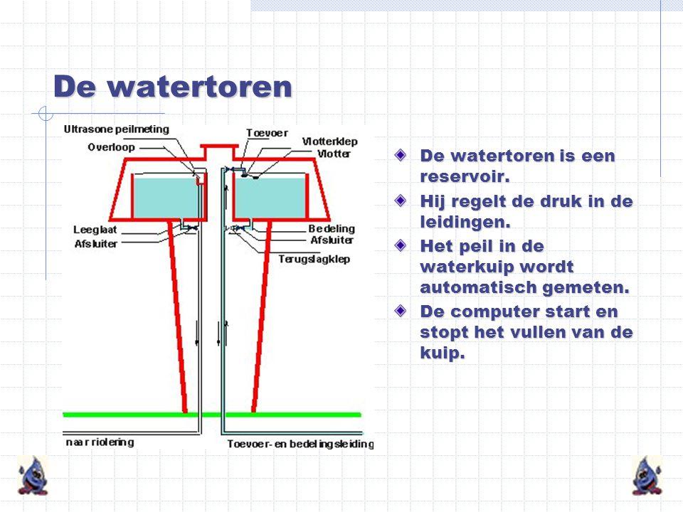 De watertoren De watertoren is een reservoir.