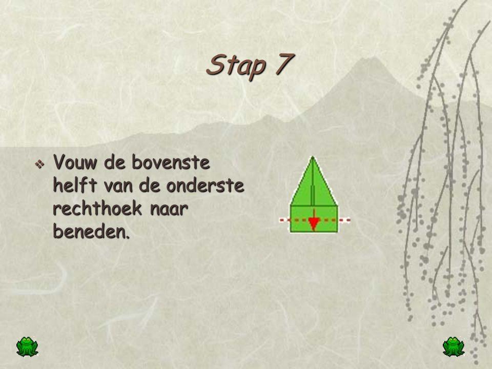 Stap 7 Vouw de bovenste helft van de onderste rechthoek naar beneden.