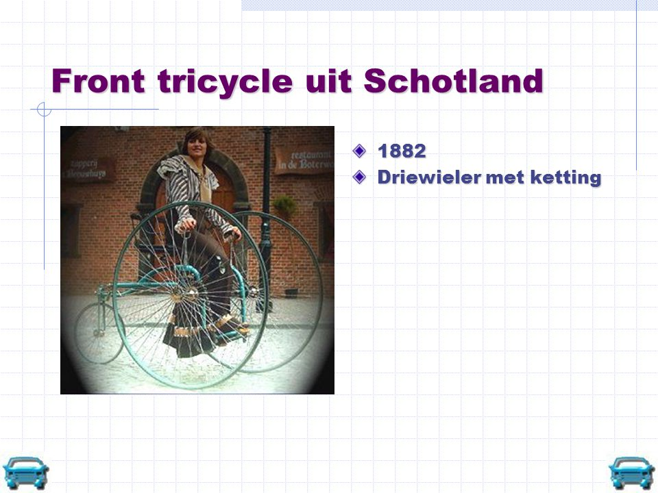 Front tricycle uit Schotland
