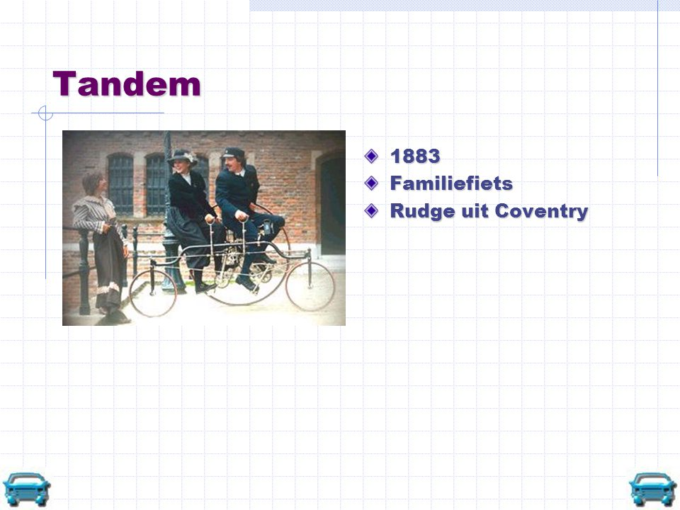Tandem 1883 Familiefiets Rudge uit Coventry