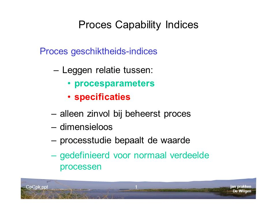 Proces Capability Indices