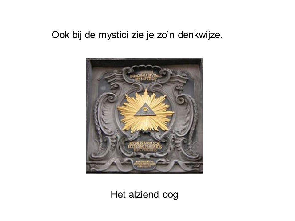 Ook bij de mystici zie je zo'n denkwijze.
