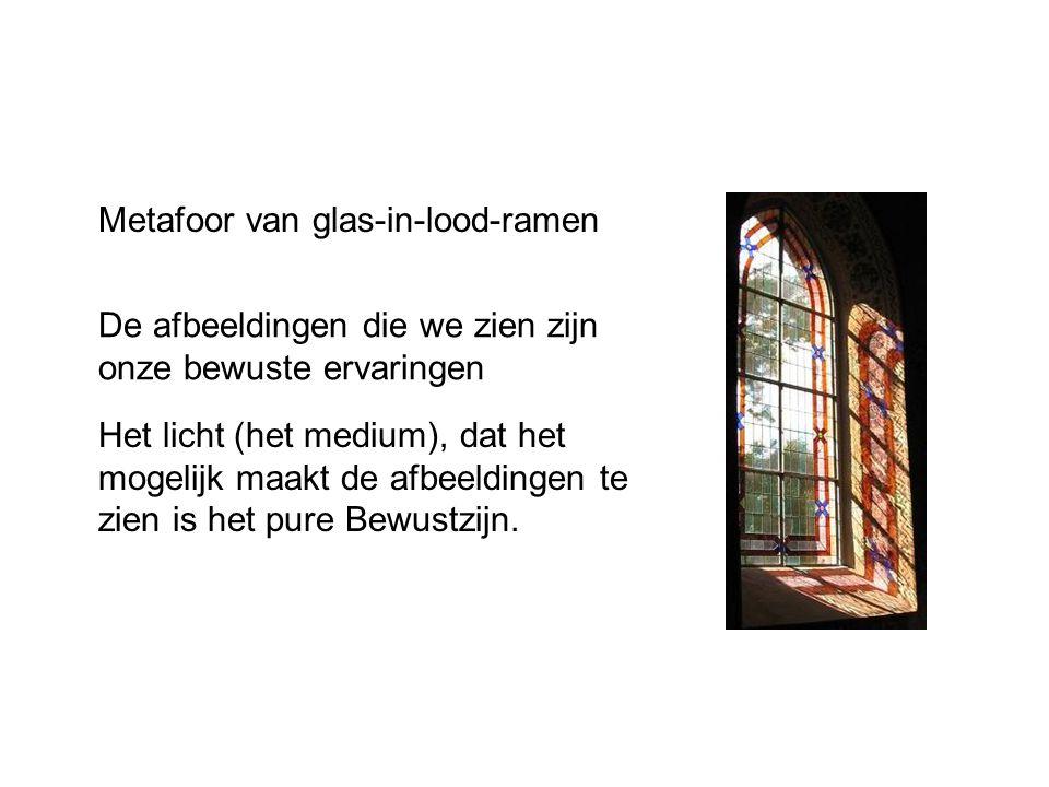 Metafoor van glas-in-lood-ramen