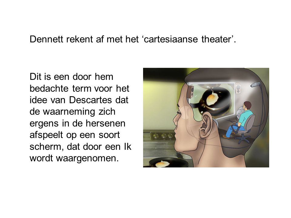Dennett rekent af met het 'cartesiaanse theater'.