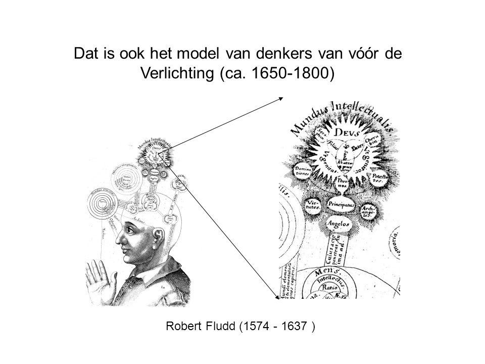 Dat is ook het model van denkers van vóór de Verlichting (ca