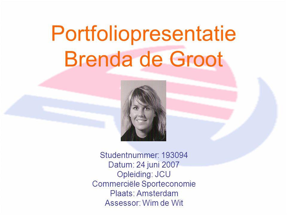 Portfoliopresentatie Brenda de Groot