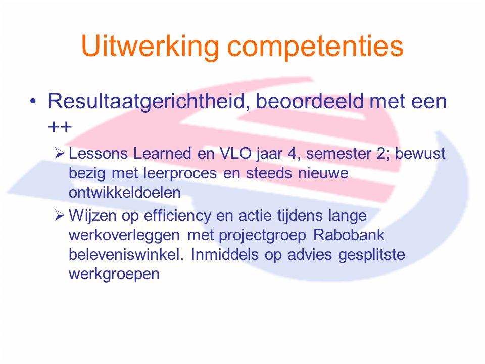 Uitwerking competenties
